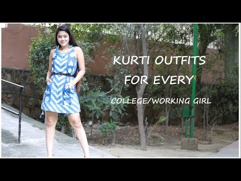 KURTI OUTFITS  FOR EVERY COLLEGE/ WORKING GIRLS I TheSassyMiss 2
