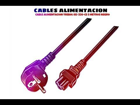 Video de Cable alimentacion Trebol IEC-320-C5 5 M Negro