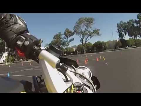 Moto Gymkhana on BMW K1200R: Oct 10 Mission College Course 1 round 3