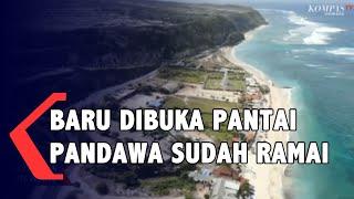 Ramainya Wisatawan DI Pantai Pandawa