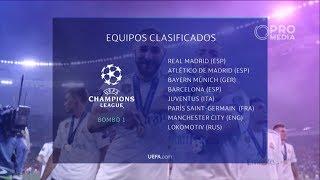 Equipos clasificados uefa champions league 2018 - 2019