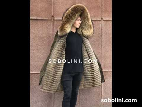 Stylish men's parka with raccoon fur, production Ukraine, shipping to any country in the world
