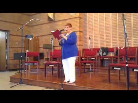 Maria Hillenbrand cantor at St. Gerald