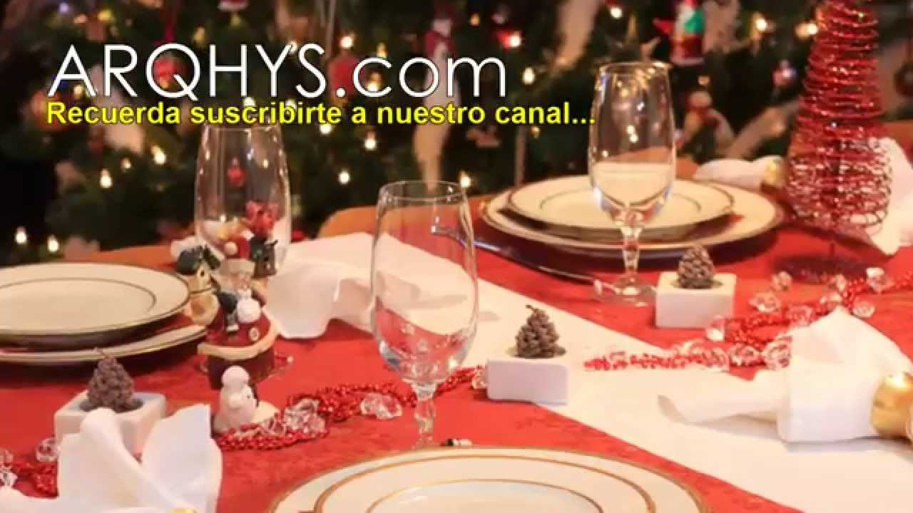 ideas para decorar la mesa para la noche buena y el ao nuevo feliz navidad
