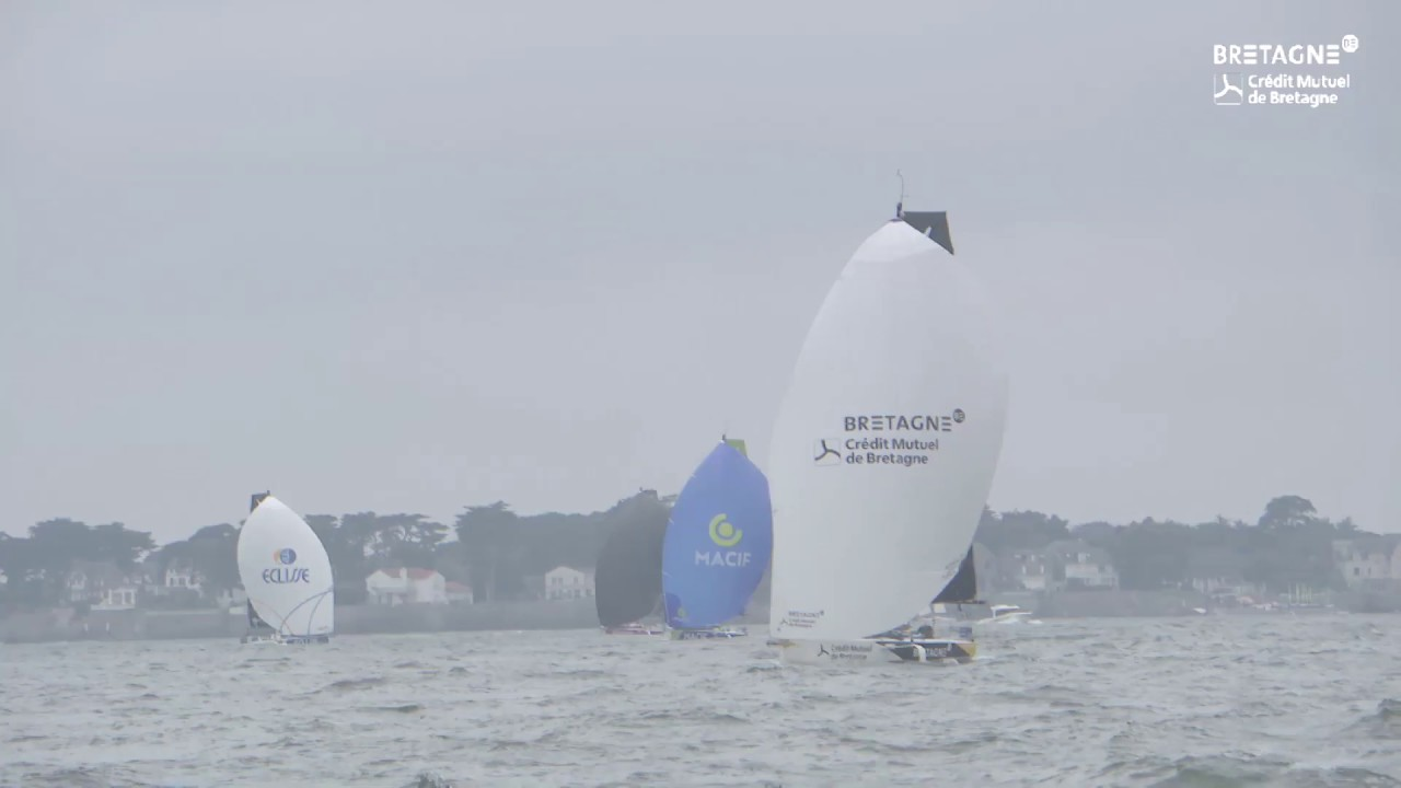 Départ de la Solitaire URGO Le Figaro, Team Bretagne-CMB