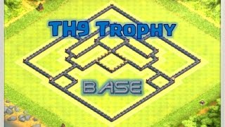 Epic Clash of Clans TH9 Trophy Base // Titan and Champion League Base // SPEED BUILD