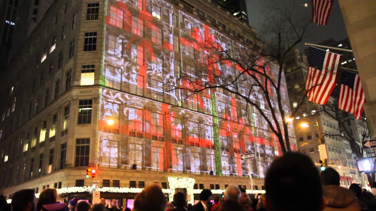 New York City - Christmas light show Macy's - YouTube
