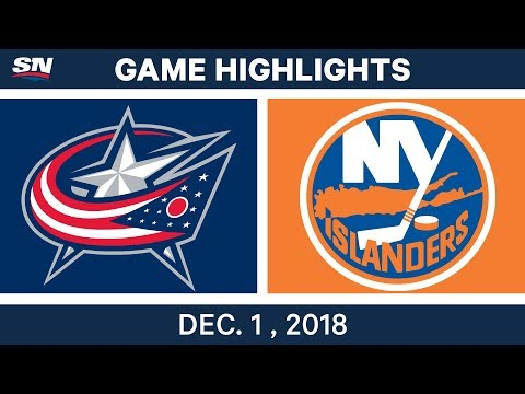 NHL Highlights | Blue Jackets vs. Islanders - Dec 1, 2018