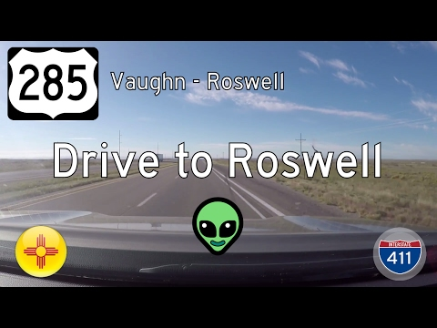 US Highway 285 - Vaughn - Roswell - New Mexico | Drive America's Highways 🚙
