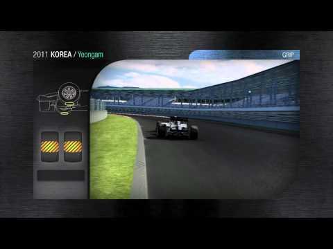 F1 2011 - Pirelli - A lap of the Yeongam track - Korean GP