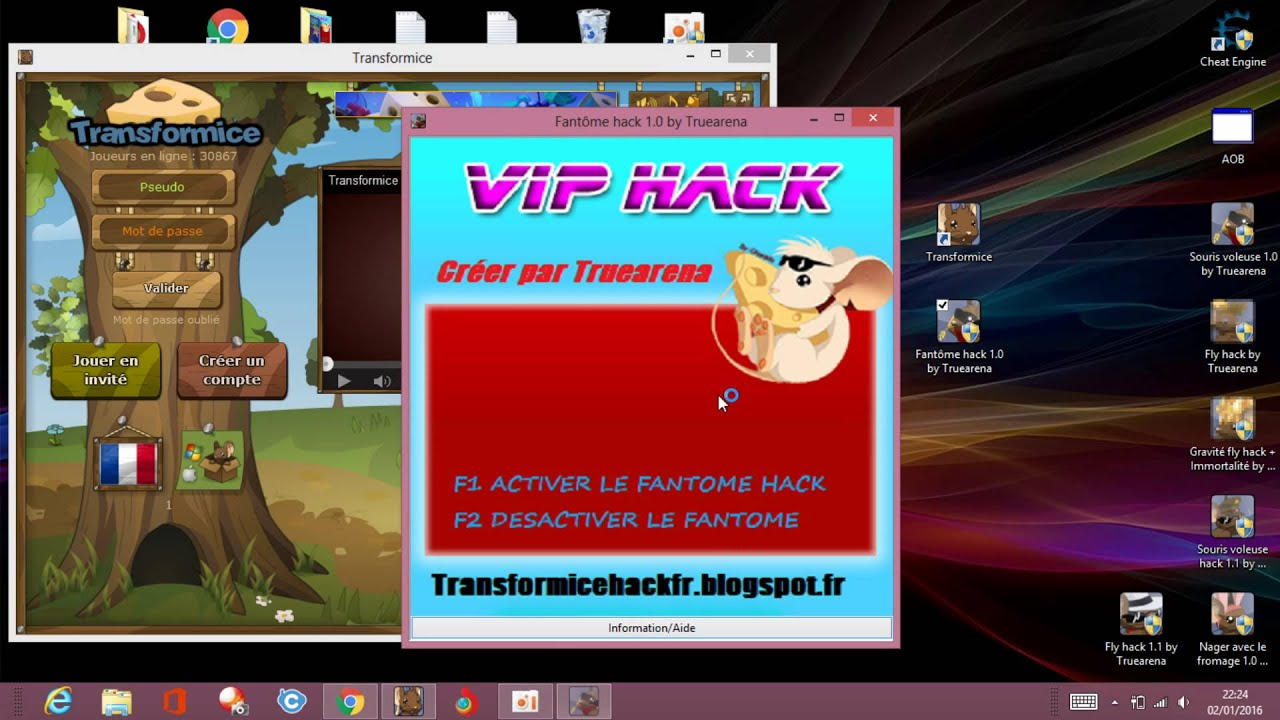 hack transformice fromage