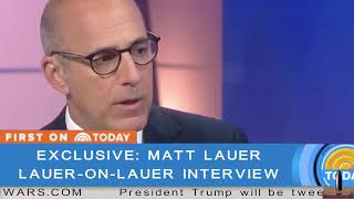 EXCLUSIVE (Remastered) Matt Lauer does a one-on-one with Matt Lauer