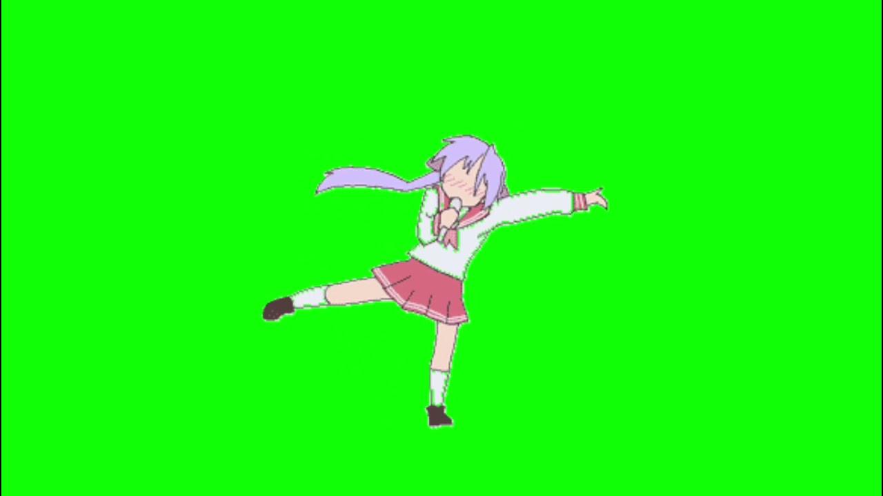 ✔️GREEN SCREEN EFFECTS: anime girl dancing
