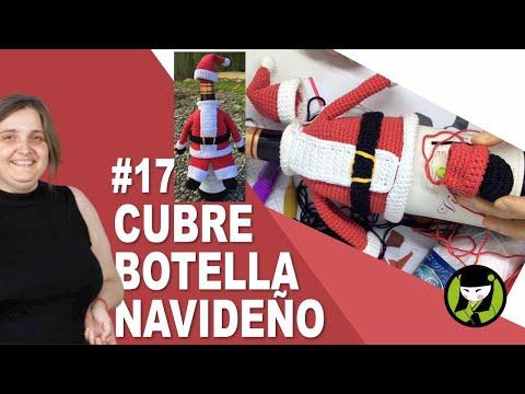 CUBRE BOTELLA PAPA NOEL amigurumi 17 zapato papanoel