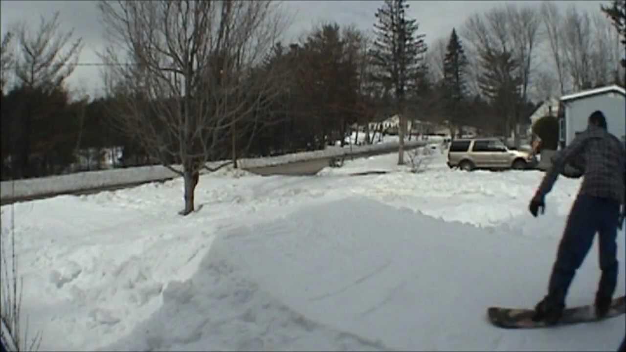 Backyard Snowboard Jump 2010