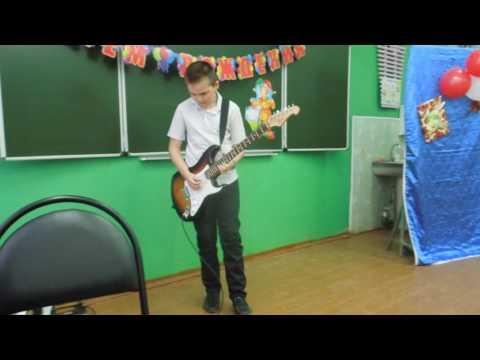Выступление игра на гитаре в Школе НСОШ