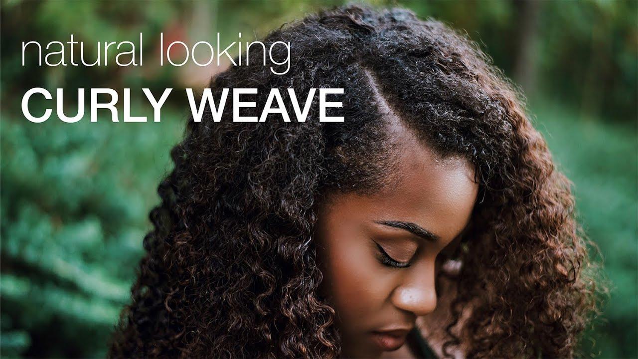 Natural looking kinky curly weave hergivenhair youtube pmusecretfo Gallery