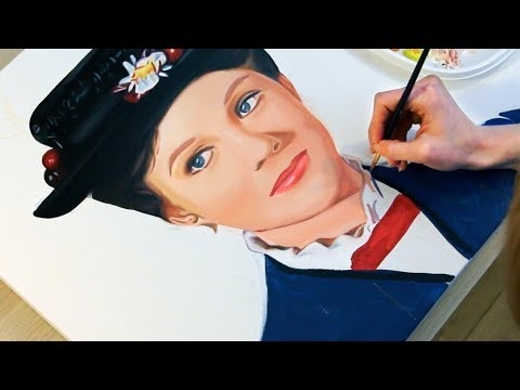Painting Mary Poppins (Julie Andrews and Emily Blunt)