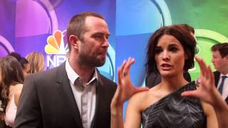 the blindspot sullivan stapleton jaimie alexander 2015 nbc upfronts red carpet interviews
