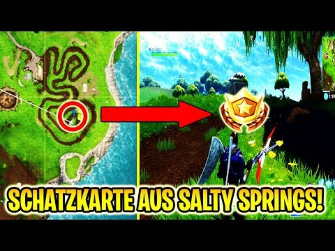 FOLGE DER SCHATZKARTE AUS SALTY SPRINGS! | Fortnite | Battle Pass Woche 3 | HERAUSFORDERUNG!