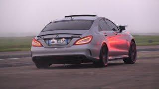 BRABUS MercedesBenz CLS63 S AMG La Performance  Revs Accelerations Drag Racing