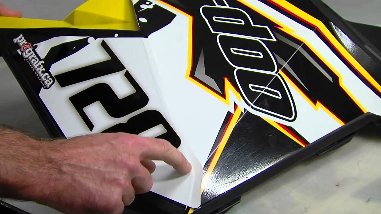 Brp Can Am >> Installing your Skidoo graphics kit - Side panel ...