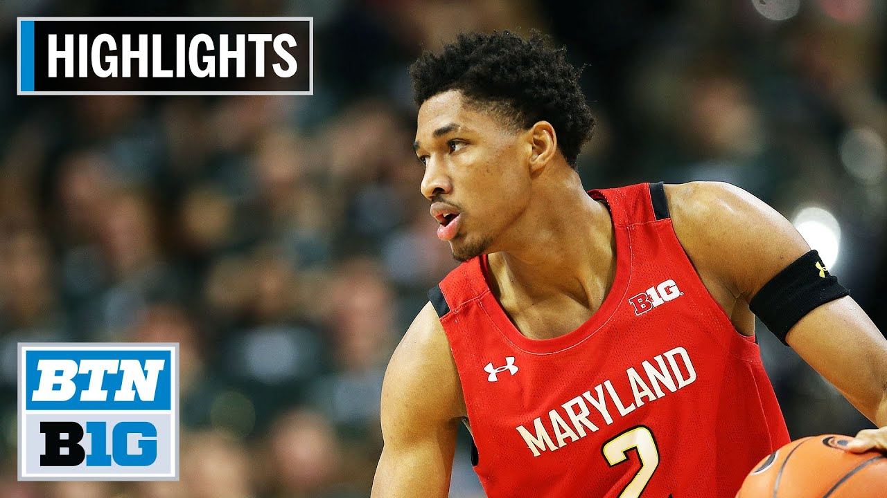No. 24 Michigan State vs. No. 8 Maryland Terps basketball video ...