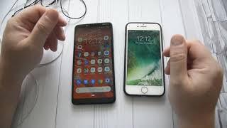 чувствительность сенсора Android и iPhone