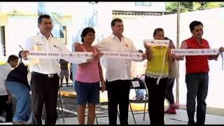 Entregan obras en Col. Playa Linda de Veracruz