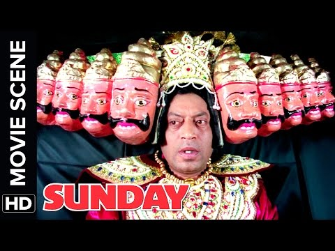 Irr Khan becomes Raavan and is chased by a dog  Sunday  Movie   Comedy