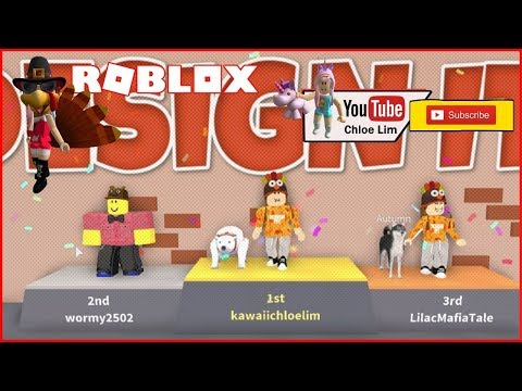 Getting the Turkey Tail and Turkey Head from the Bloxgiving 2017 Event! | Design It! ROBLOX