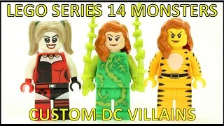LEGO SERIES 14 MONSTERS CUSTOM DC VILLAIN MINIFIGURE IDEAS