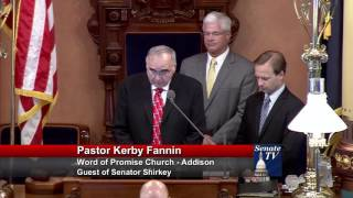 Sen. Shirkey welcomes Pastor Fannin to deliver invocation at Michigan Senate