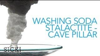 Washing Soda Stalactite - Cave Pillar - Sick Science! #084