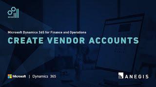 Dynamics 365 Operations: Create Vendor Accounts