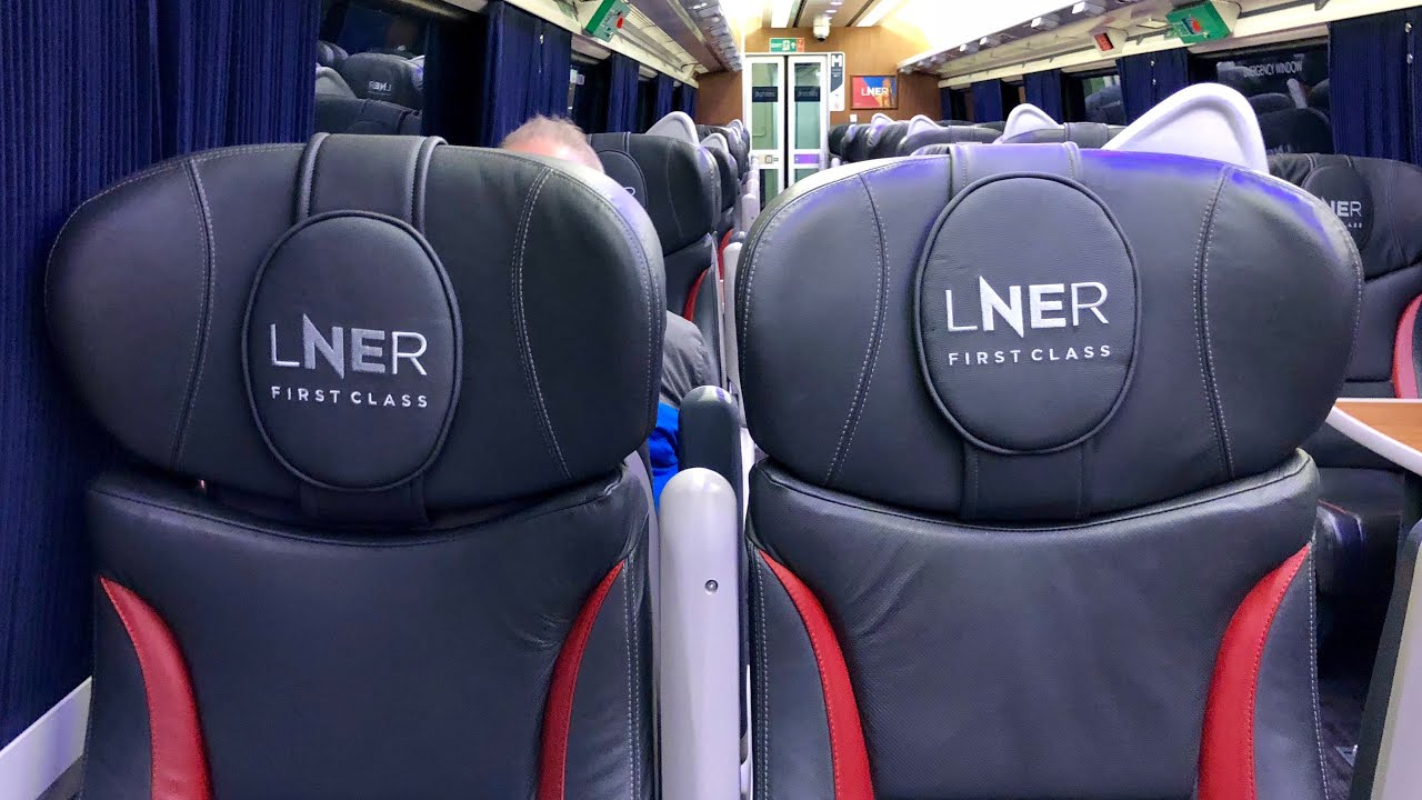 5* Review LNER First Class HD Video - Seats / Food to & from London Kings  Cross