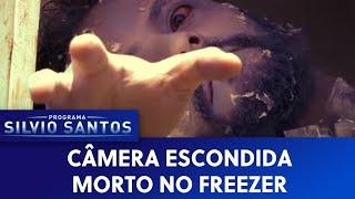 Morto no Freezer - Dead body in the Freezer Machine Prank | Câmeras Escondidas (28/02/21)