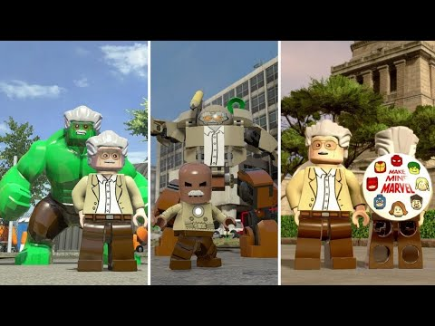 Evolution Of Stan Lee In LEGO Marvel Videogames