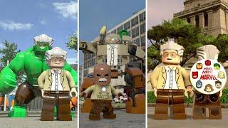 Evolution of Stan Lee in LEGO Marvel Videogames
