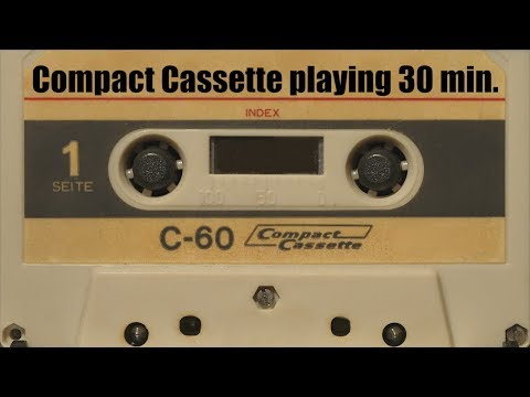 *VIDEO BACKGROUND* FREE TO USE: Compact Cassette playing 30 min. NO SOUND!