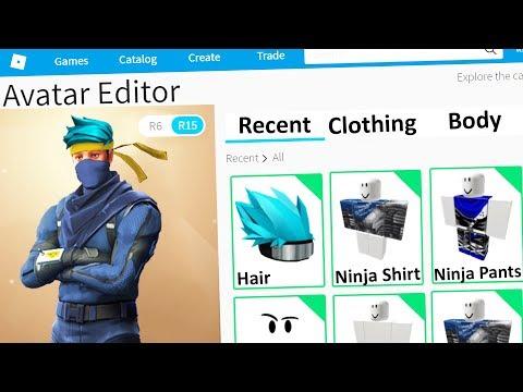 Making Ninja A Roblox Account Youtube