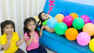 annie-and-suri-pretend-play-with-funny-balloons-fun-kids-playtime