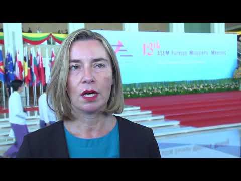 Mogherini attends the 13th ASEM in Myanmar