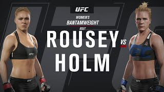UFC 2: Pay Per View - Ronda Rousey Vs. Holly Holm - Brutal and Bloody Match!