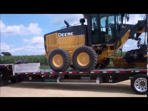 John Deere 672gx Motor Grader Youtube
