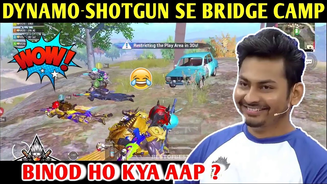 DYNAMO - SHOTGUN LEKE BRIDGE CAMP | PUBG MOBILE | BEST OF BEST