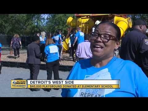 $40K playground donated to Detroit elementary school