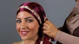 موديل لفة حجاب تشبه الفراشة