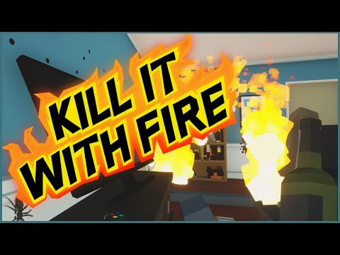 IT IS HERE! Let's Play Kill It With Fire! Full Game |