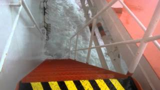 strong storm and a big list causing floods on a tanker vessel mt wolgastern